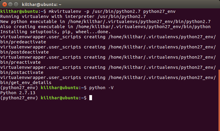 Create user defined Python version virtual environment on Linux and test it.